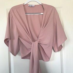 Elegant tie front blouse